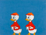Two Walt Disney Studios celluloids of Donald Duck and his nephews