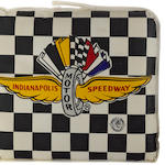 An Indianapolis 500 seat cushion, c.1960s,