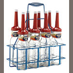 An 8 bottle Standard Oil rack,