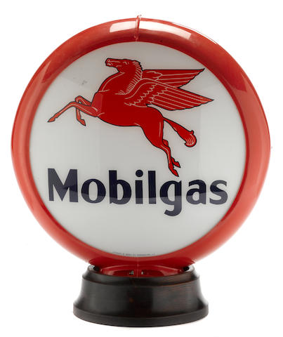 A reproduction Mobilgas globe,