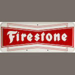 A Firestone tires sign, c. 1950's,