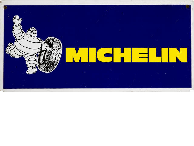 A Michelin tires sign,