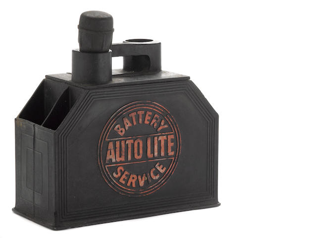 An Autolite Battery service box, c. 1930s,