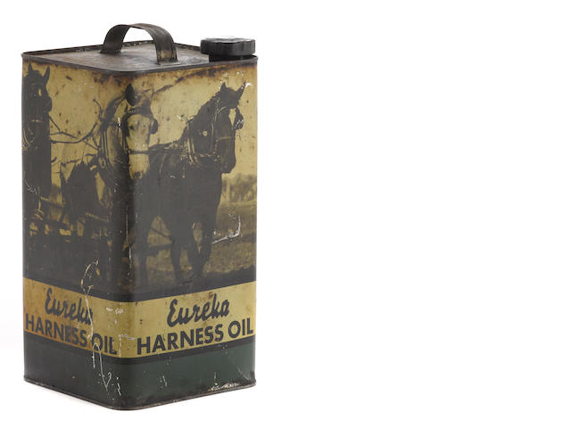 A Eureka Harness oil tin, c. 1910,