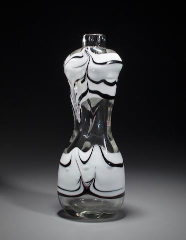 A Fulvio Bianconi for Venini figural fenicio glass vase  Model NO. 3876, circa 1949