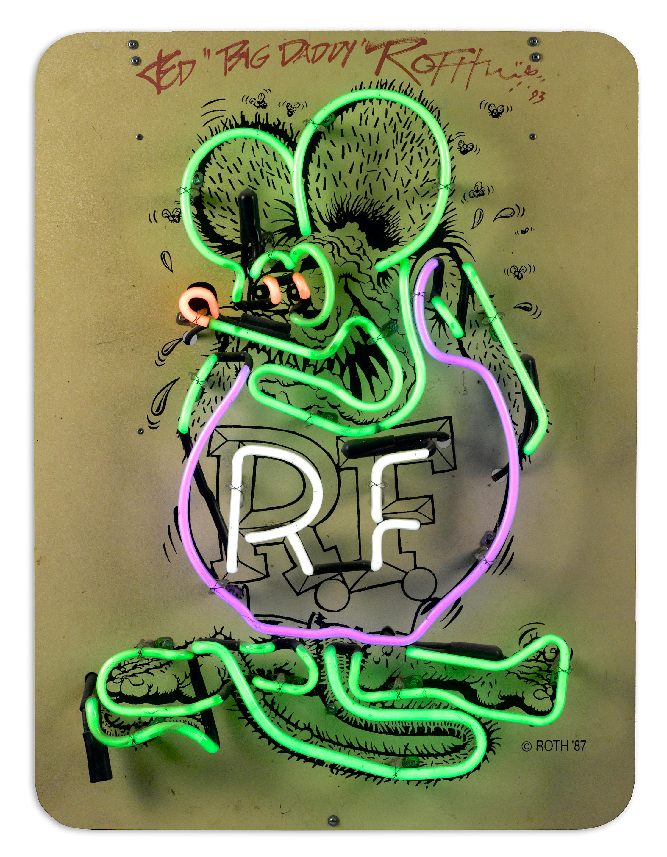 A Ed Big Daddy Roth Rat Fink Neon Sign Auctions