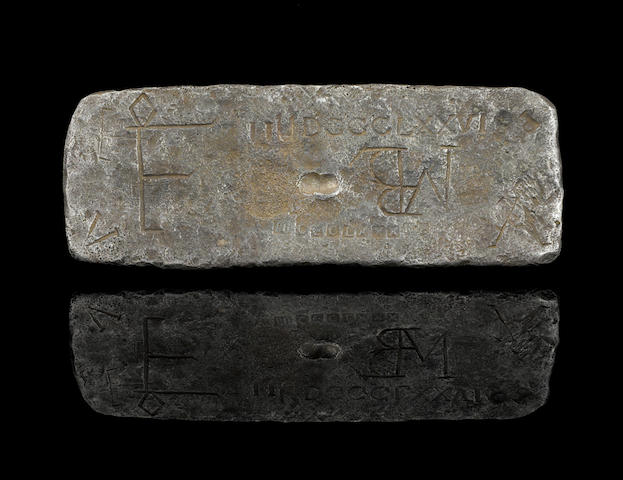Large Potosi Silver Bar from the Nuestra Senora de Atocha Shipwreck