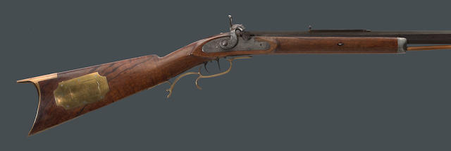 A half-stock percussion rifle