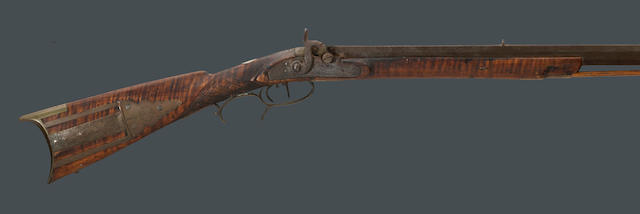 An American percussion rifle by H. Groff