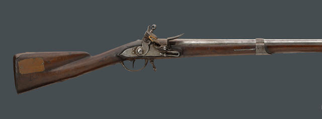 A US surcharged French Model 1766 Charleville flintlock musket