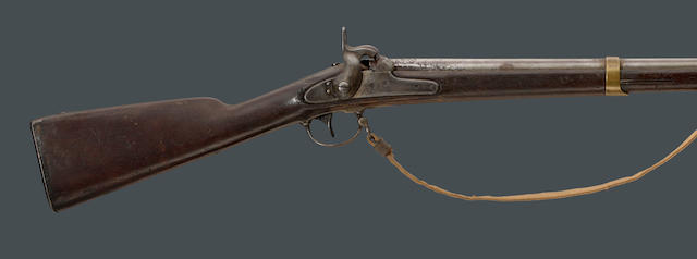 A Model 1842 Palmetto Armory percussion musket with Confederate linen sling