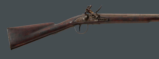 A Belgian flintlock trade rifle