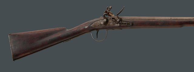 A Belgian flintlock trade rifle