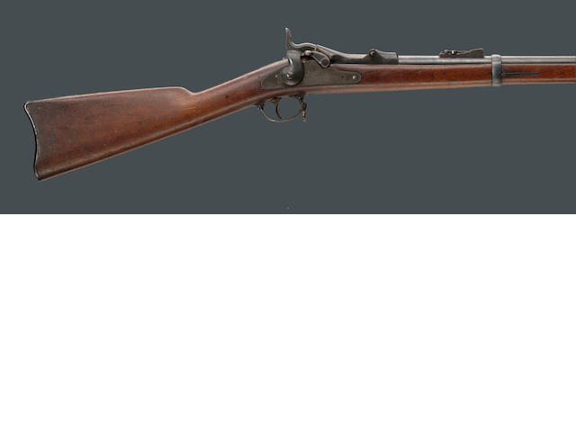 A very early U.S. Model 1873 Trapdoor Springfield rifle
