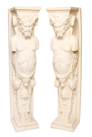 A pair of Neoclassical style composition pedestals