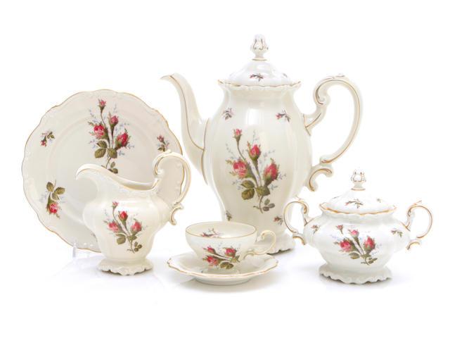 A Rosenthal Pompadour porcelain part tea service