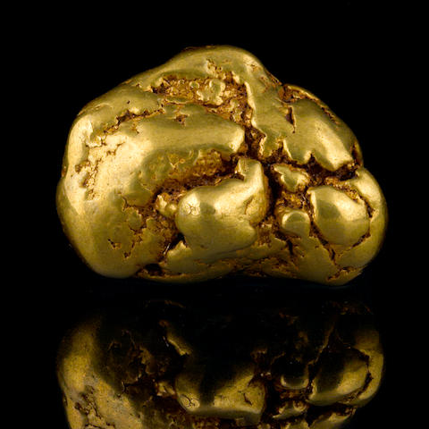 A gold nugget 5.14ozt (159.9g, 102.8 dwt)