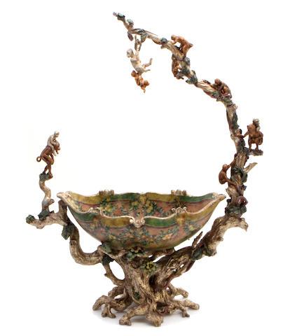 A Venetian Rococo style lacca povera center bowl