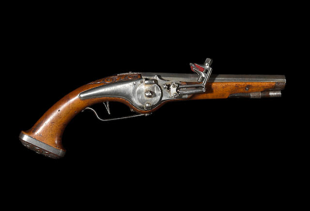 A scarce Bavarian wheellock pistol of diminutive form