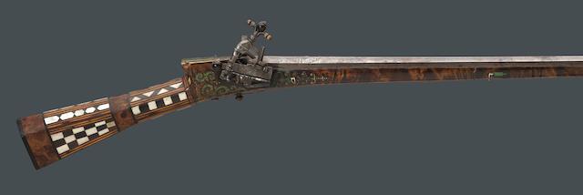 An Ottoman miquelet tufek carbine