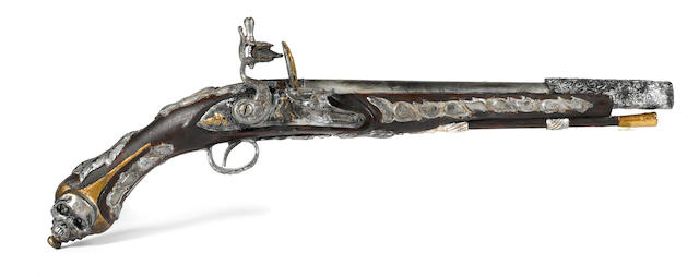 "A Captain Barbossa's resin prop pistol from ""Pirates of the Caribbean – Dead Man's Chest and At World's End"