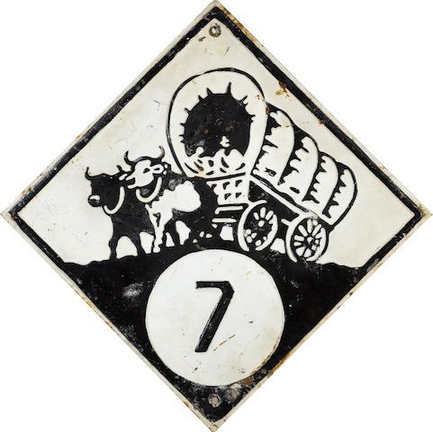 A Nebraska hiway 7 sign, c.1930,