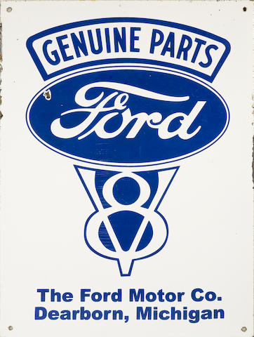 A rare Genuine Ford V8 parts sign, c. 1930s,