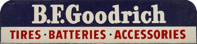 A B.F. Goodrich Tire, Batteries and Accessories banner sign,