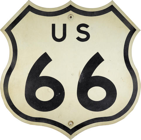 A US California route 66 sign,