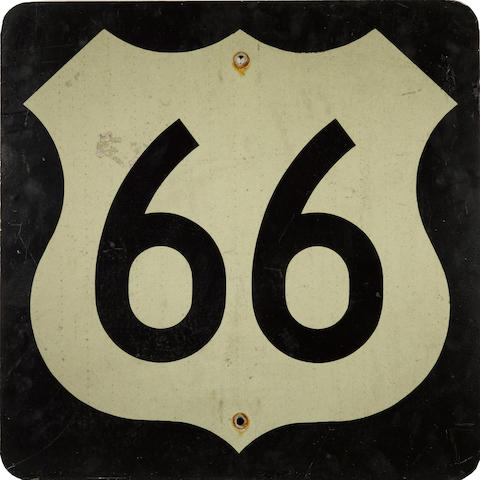 An Oaklahoma route 66 sign,