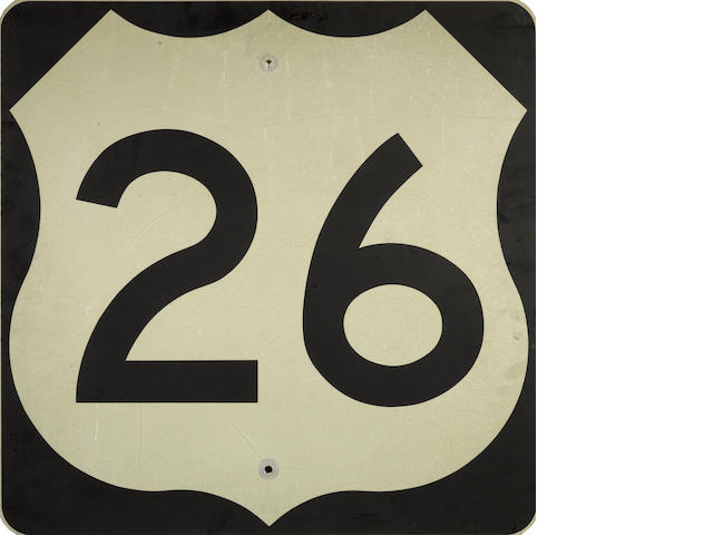A US interstate 26 sign,