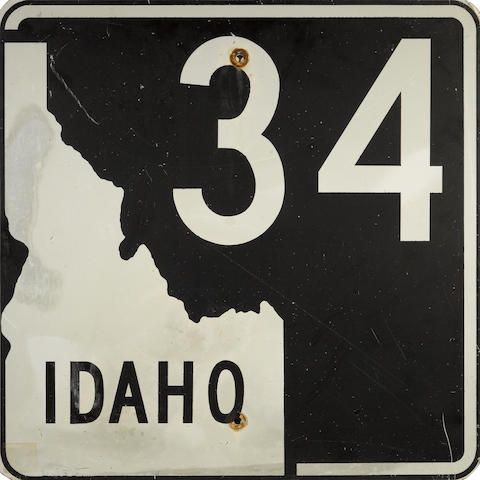 An Idaho route 34 sign,