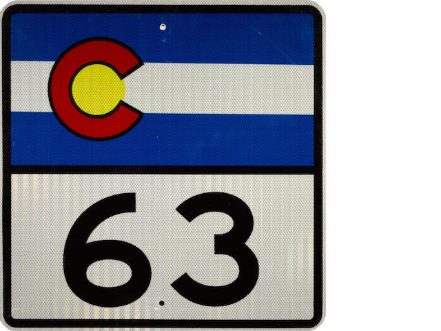 A Colorado route 63 sign,