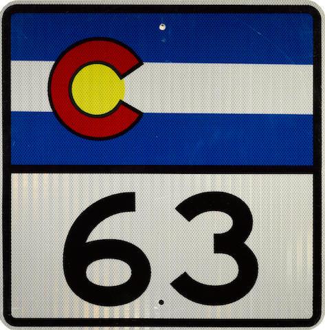 A Colorado route 63 sign,