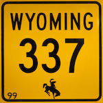 A Wyoming route 337 sign,