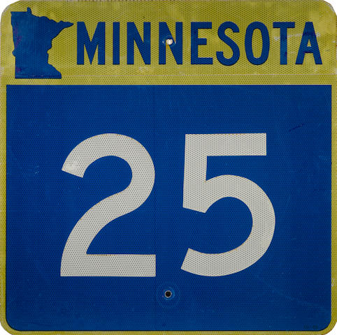 A Minnesota Route 25 sign,