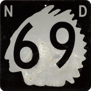A North Dekota route 69 sign,