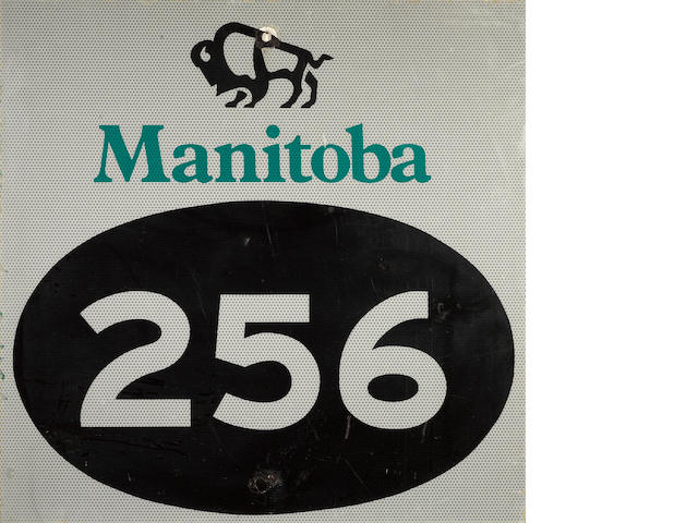 A Canadian Manatoba 256 sign,