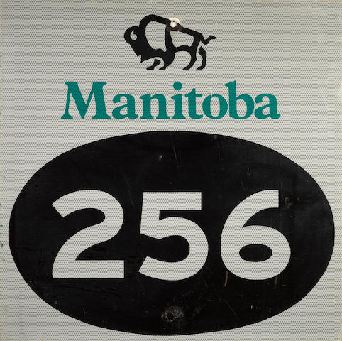 A Canadian Manatoba 256 sign,