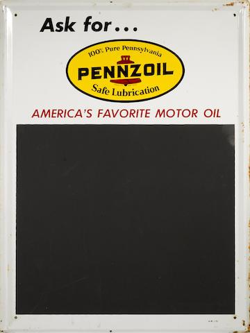 A Pennzoil chaulkboard, c.1960s,