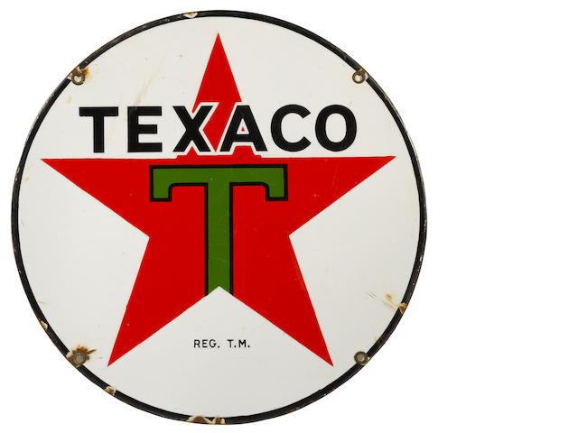 A rare lubester Texaco star, c. 1930,