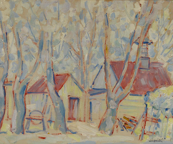 Louis Siegriest (American, 1899-1989) Cottages, 1928 15 x 18in