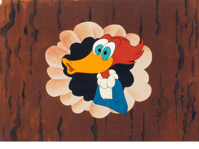 A CEL OF WOODY WOODPECKER FROM THE 63RD ACADEMY AWARDS.