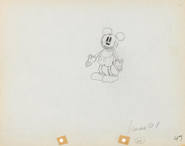 A Walt Disney Studios animation drawing of Mickey Mouse from Giantland