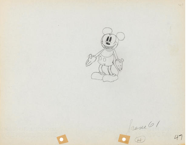 A MICKEY MOUSE ANIMATION, #47, DRAWING FROM GIANTLAND.