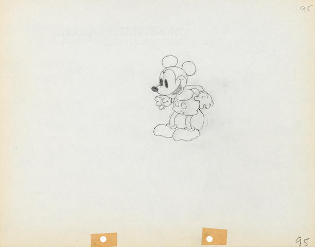 A MICKEY MOUSE ANIMATION, #95, DRAWING FROM GIANTLAND.