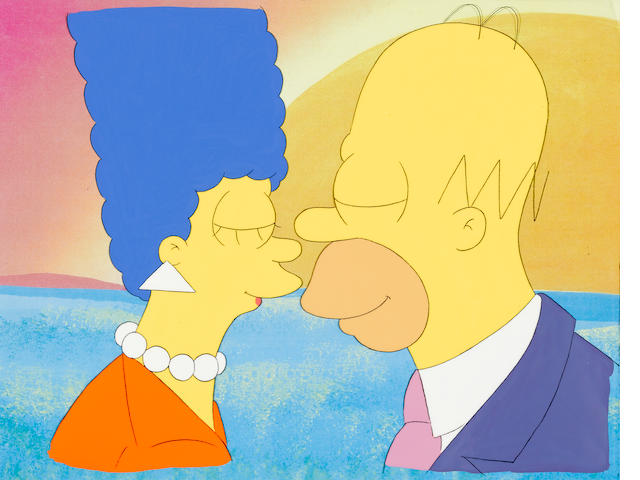 THE SIMPSONS, HOMER AND MARGE, (LOVE)