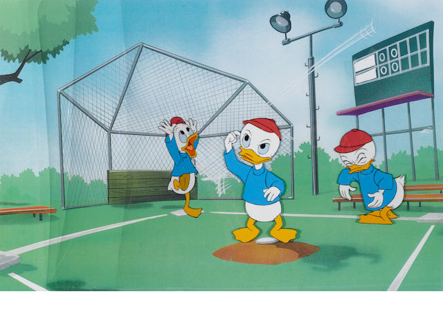 THREE CELS OF DONALD DUCK'S NEPHEWS.