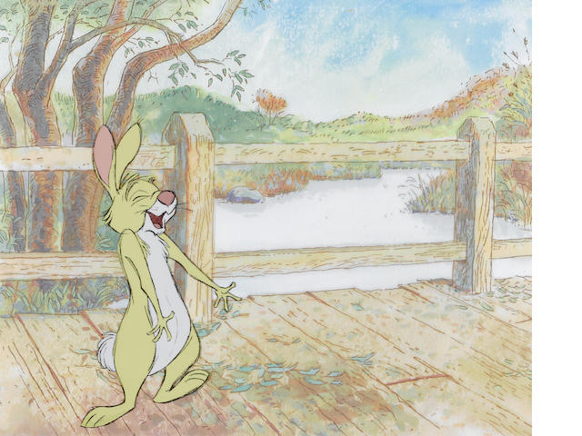 TWO CELS OF RABBIT FROM WINNIE THE POOH'S, BLUSTERY DAY.