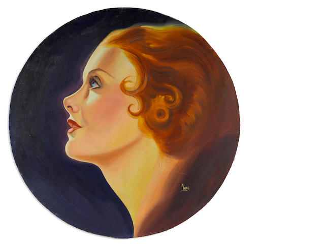 A Myrna Loy promotional painting